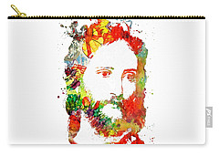 Jesus Christ - Watercolor Carry-all Pouch by Doc Braham