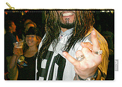 Carry-all Pouch featuring the photograph Josey Scott  Saliva by Don Olea