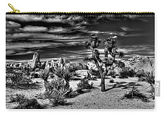 Carry-all Pouch featuring the photograph Joshua Tree Black And White by Benjamin Yeager