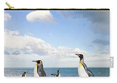 King Penguins Gold Harbour  Carry-all Pouch by Yva Momatiuk John Eastcott