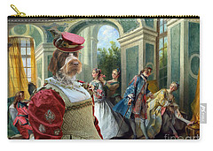 Korthals Pointing Griffon Art Canvas Print  Carry-all Pouch by Sandra Sij
