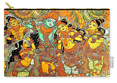 Krishna In Vrindavan Carry-all Pouch by Pg Reproductions