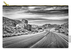 Carry-all Pouch featuring the photograph Kyle Canyon Road by Howard Salmon