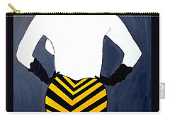 Carry-all Pouch featuring the painting Lady In Stripes by Nora Shepley