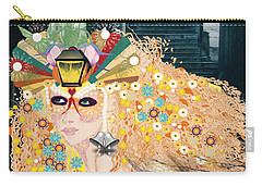 Carry-all Pouch featuring the digital art Lantern Fairy by Kim Prowse
