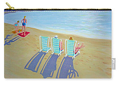 Sunset On Beach - Last Rays Carry-all Pouch by Rebecca Korpita