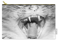 Laughing Cat Carry-all Pouch by Jeannette Hunt