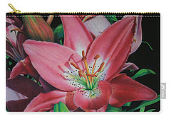 Lily's Garden Carry-all Pouch by Pamela Clements