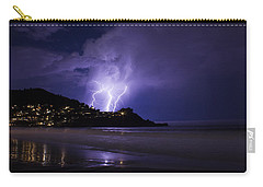 Lightning Over The Ocean Carry-all Pouch