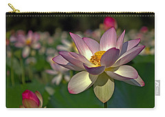 Carry-all Pouch featuring the photograph Lotus Flower by Jerry Gammon