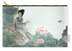 Carry-all Pouch featuring the photograph Lotus Pond by Yufeng Wang