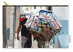 Man And His Pack Mule Carry-all Pouch