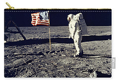 Man On The Moon Carry-all Pouch by Neil Armstrong/Underwood Archive