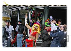 French Quarter Mardi Gras Carry-all Pouch by Luana K Perez