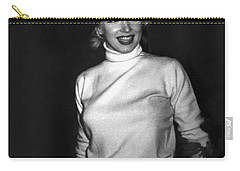 Marilyn Monroe In Korea Carry-all Pouch by Underwood Archives