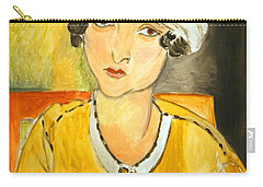 Matisse's Lorette With Turban And Yellow Jacket Carry-all Pouch