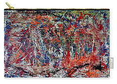 Carry-all Pouch featuring the painting Nature Walk In The Yakima Delta by Lisa Kaiser