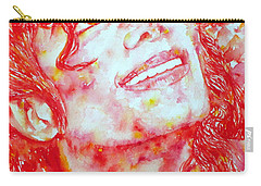Michael Jackson - Watercolor Portrait.2 Carry-all Pouch by Fabrizio Cassetta