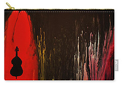 Carry-all Pouch featuring the painting Mingus by Michael Cross