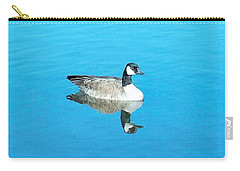 Carry-all Pouch featuring the photograph Mirror Goose by Kerri Mortenson