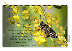Monarch Butterfly With Scripture Carry-all Pouch