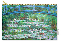 Carry-all Pouch featuring the photograph Monet's The Japanese Footbridge by Cora Wandel