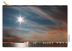 Moon Rise Over Anna Maria Island Historic City Pier Carry-all Pouch