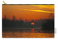 Carry-all Pouch featuring the photograph Morning Over River by Davor Zerjav
