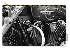 Motorcycle Engine Black And White Carry-all Pouch