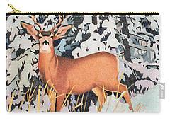Mule Deer Carry-all Pouch by Dan Miller