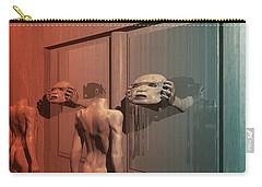 Carry-all Pouch featuring the digital art New Faces by John Alexander