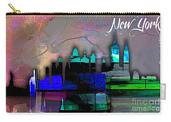 New York Skyline Watercolor Carry-all Pouch by Marvin Blaine