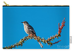 Northern Mockingbird Carry-all Pouch by Robert Bales