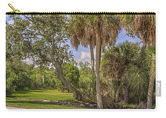 Carry-all Pouch featuring the photograph Oak Trees by Jane Luxton