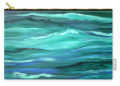 Ocean Swell By V.kelly Carry-all Pouch
