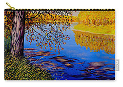Carry-all Pouch featuring the painting October Afternoon by Sher Nasser