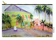 Old Key Lime House Carry-all Pouch by Donna Walsh