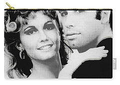 Olivia Newton John And John Travolta In Grease Collage Carry-all Pouch