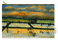 Carry-all Pouch featuring the painting On The Way To Ubud Iv Bali Indonesia by Melly Terpening