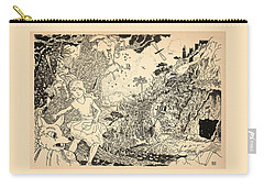 Carry-all Pouch featuring the drawing Open Sesame by Reynold Jay