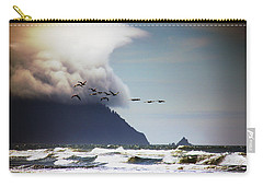 Carry-all Pouch featuring the photograph Oregon Coast  by Aaron Berg