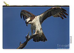 Carry-all Pouch featuring the photograph Osprey With A Fish Photo by Meg Rousher