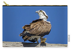 Carry-all Pouch featuring the photograph Osprey With Fish In Talons by Dale Powell