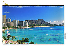 Palm Trees On The Beach, Diamond Head Carry-all Pouch