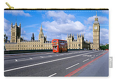 Parliament Big Ben London England Carry-all Pouch by Panoramic Images
