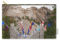 Carry-all Pouch featuring the photograph Patriotic Faces by Mary Carol Story