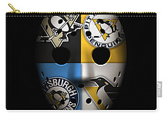 Penguins Goalie Mask Carry-all Pouch
