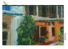 Carry-all Pouch featuring the painting Peranakan House by Belinda Low