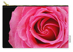 Pink Rose  Carry-all Pouch by Jim Hughes