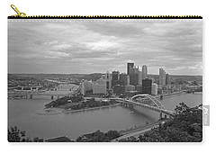 Pittsburgh - View Of The Three Rivers Carry-all Pouch by Frank Romeo